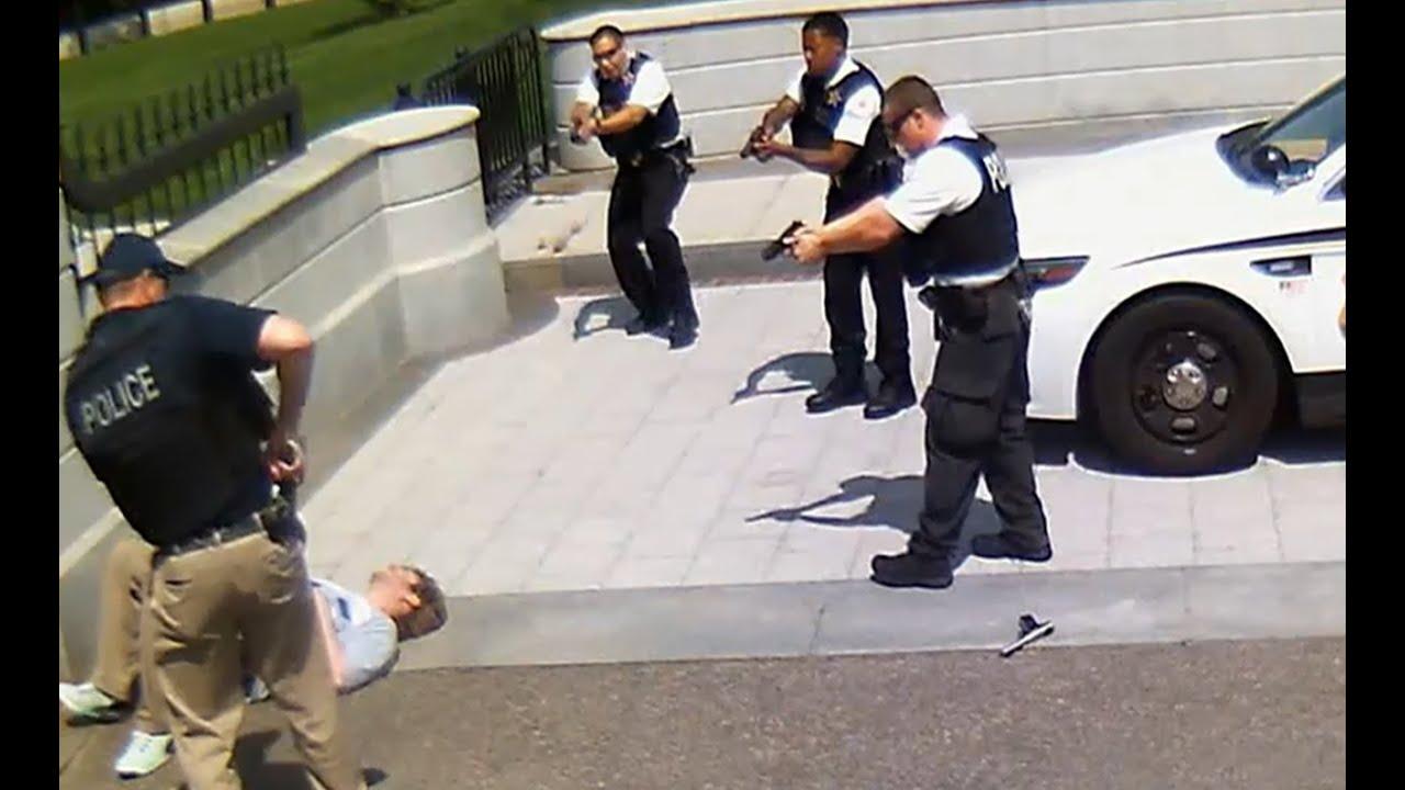 White House Shooting   Secret Service Shoot Gun Wielding Man [CAUGHT ON  TAPE]