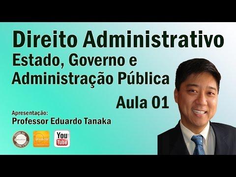 Direito Administrativo - Aula 01 (Estado, Governo e Administração Pública)