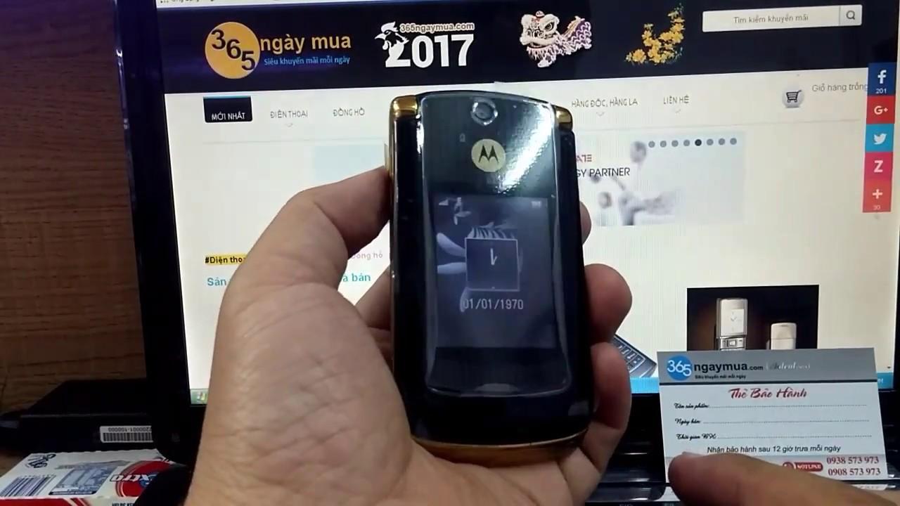 Điện thoại cổ motorola V8 luxury edition gold chính hãng tồn kho chỉ có tại  http://365ngaymua.com