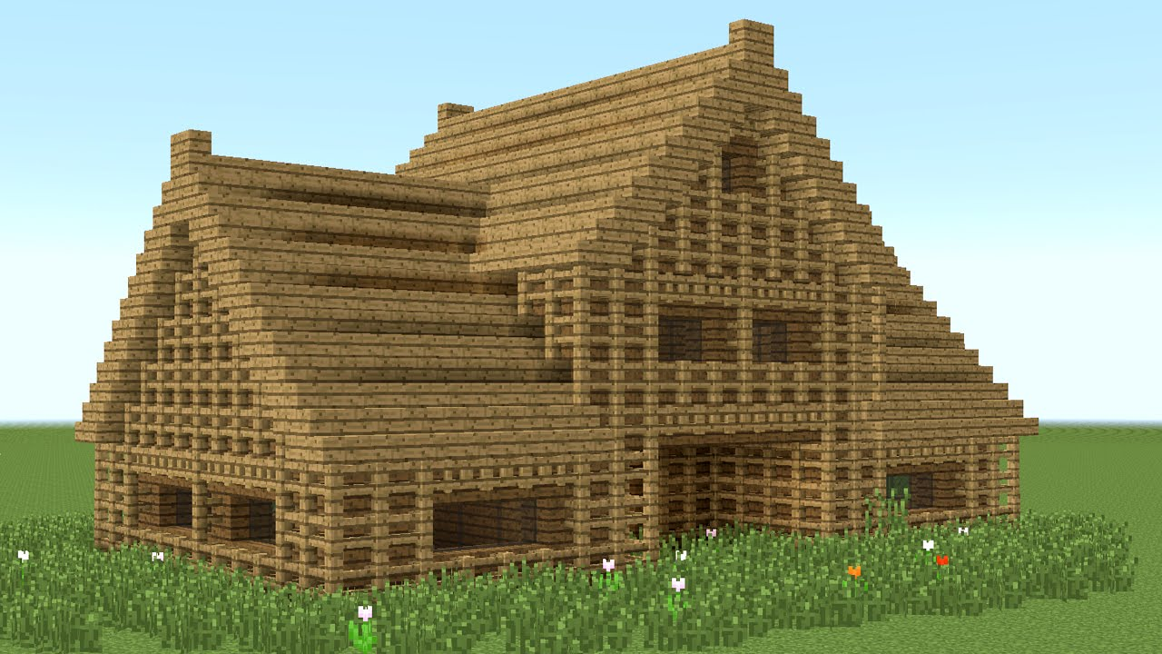 MINECRAFT How to build 6 room wooden house