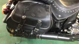 Indian motorcycle Chief Dark Hose 2012 自作真鍮マフラーエンド 排気音 インディアン ダークホース カスタム