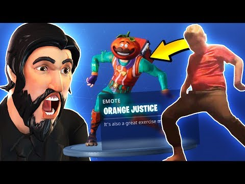 ORANGE SHIRT KID MADE IT INTO FORTNITE! (Orange Justice Emote & Season 4 Gameplay)