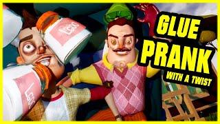 GLUE PRANK WITH A TWIST - Hello Neighbor Mod