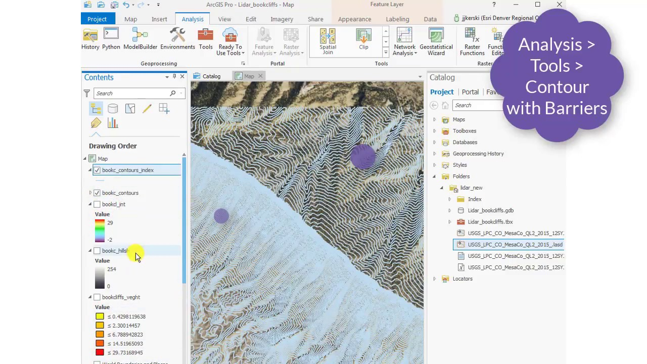 How to Create Contours and Index Contours in ArcGIS Pro