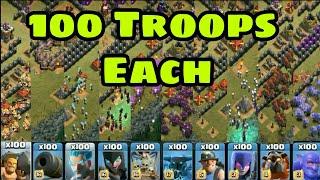 Which Troop is Fastest Troop | Fastest Troop of Clash of Clans | Challenge of 100 Troop Each