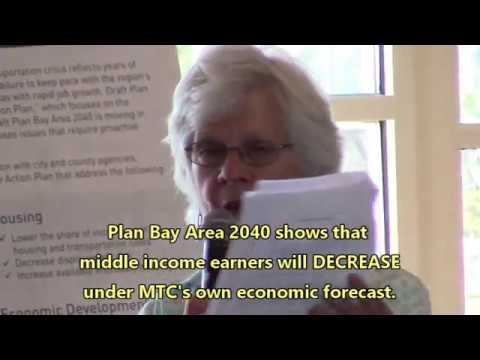 Plan Bay Area 2040 guts the Middle Class in the Bay Area!
