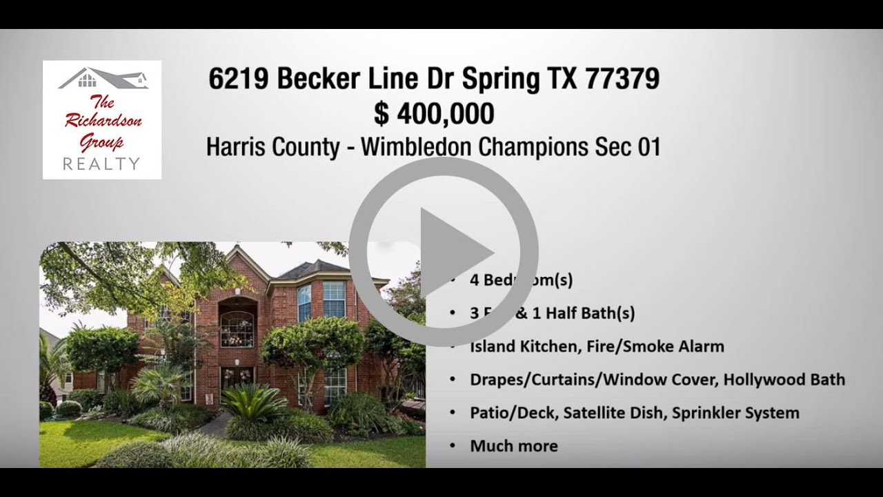 SOLD 6219 Becker Line Dr Spring TX 77379 | Call For More Beautiful Homes  For Sale 713 320 6712