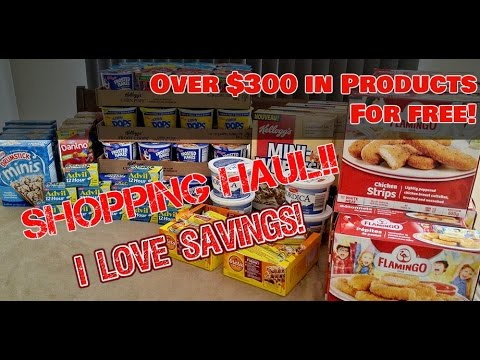 Over $300 Shopping Haul for FREE! FREE Grocery Haul!
