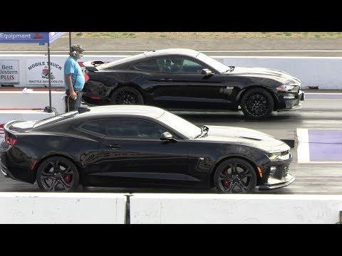 2019 Mustang GT Vs Camaro SS And Vs 2017 Mustang - Drag Race