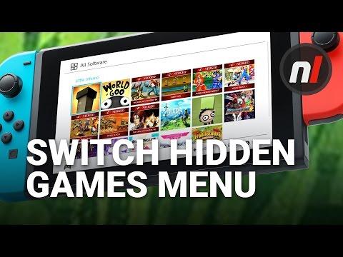 Secret Hidden Games Menu On Nintendo Switch OS
