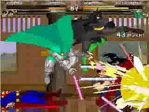4 on 4 Mugen Battle DC vs Marvel