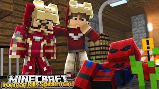 Minecraft Adventure - IRONMAN WANTS TO KILL SPIDER-MAN