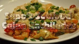 Sapo's Cajun Seafood Enchiladas