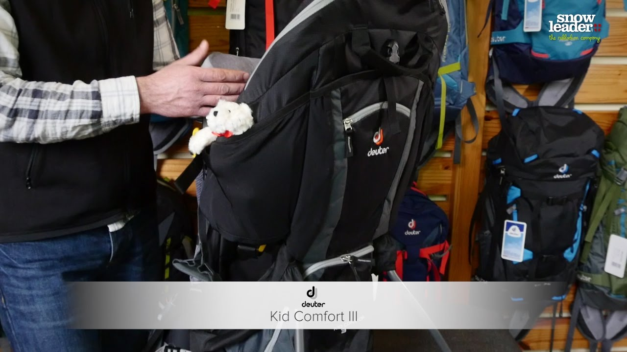 Deuter : Kid confort III - Porte bébé - Snowleader.