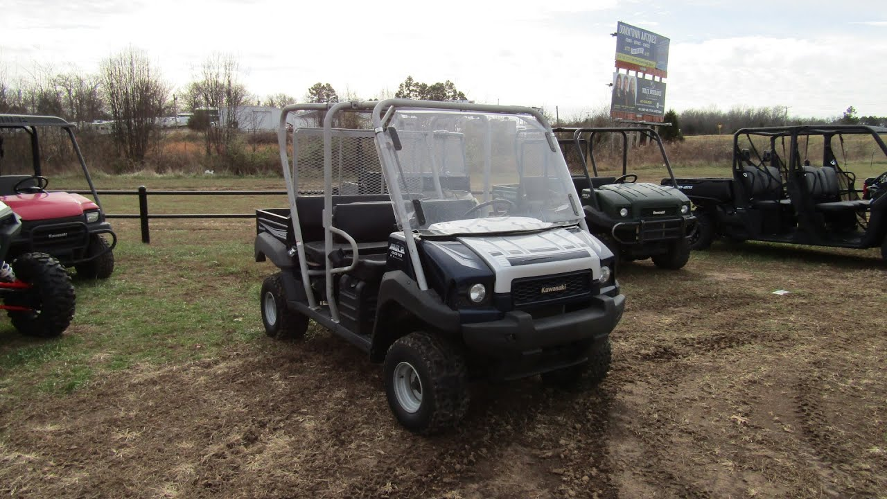 Kawasaki Mule 4010 Trans Roll Cage Soft Top Roof Black