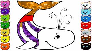 Whales Coloring Pages For Children | Kids Coloring Pages | Learn Coloring