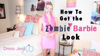 Zombie Barbie Halloween Costume Look Tutorial