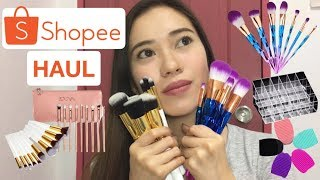 Shopee Haul (Affordable Brush, Unicorn Brush, Zoeva Brush) | Philippines | Nina Gregorio