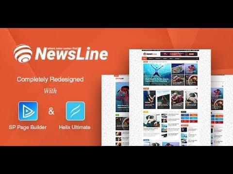 Newsline - News/Magazine Joomla Template Only Pack