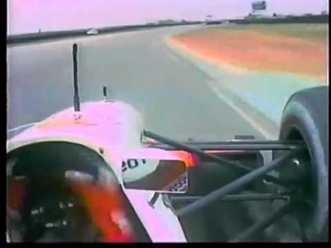 Onboard Aguri Suzuki at Snetterton - 1992 (Footwork FA13 tests)