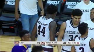 Texas a&m vs LSU Basketball Highlights 1-11-17