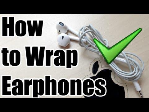 How To Wrap Earphones Correctly