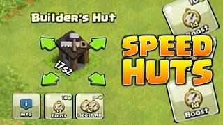 Clash of Clans - SPEED UP YOUR BUILDER HUTS! New 2015 Update! Update Ideas!