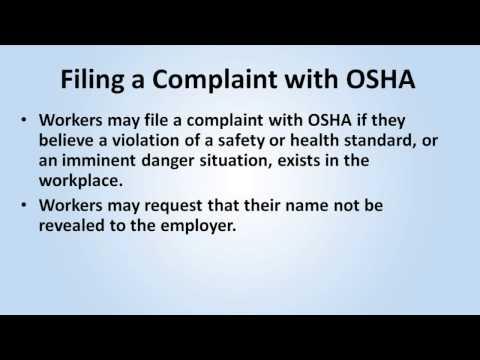 Introduction to OSHA