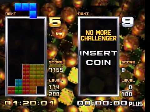 Tetris: the Absolute Plus BIG+20G Mode first half passed (542Lv.)