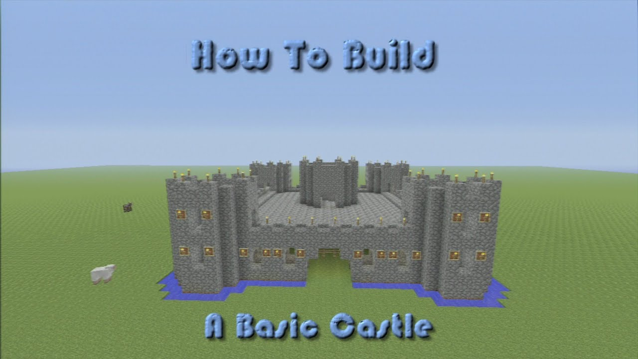 Minecraft how to build a basic castle step by step