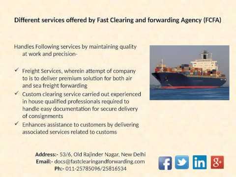 International Cargo Shipping Companies FCFA Delhi