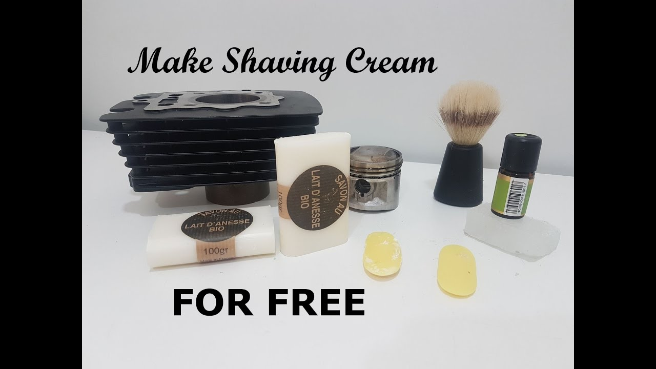 How To Make Your Own Natural Shaving Soap Cream For Free You