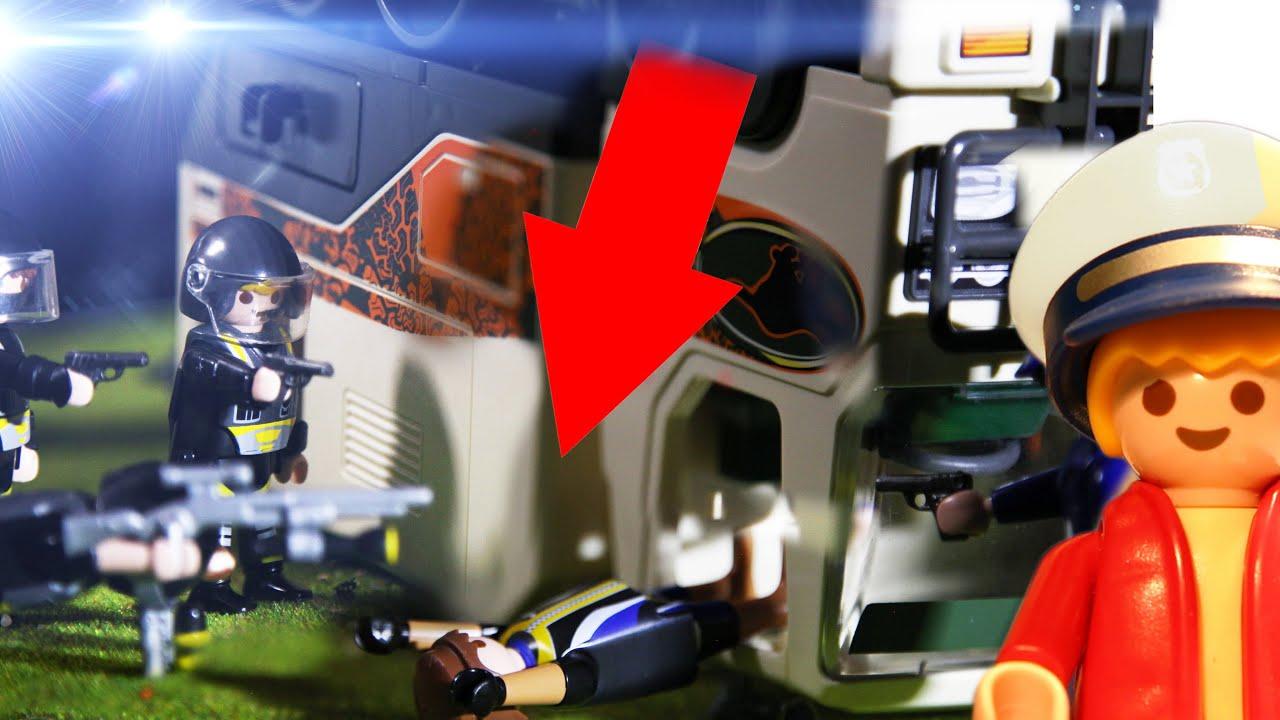 SEK POLIZEI EINSATZ LEGT GANGSTER HANDSCHELLEN AN-Playmobil Verfolgungsjagd Matz der Meisterdetektiv