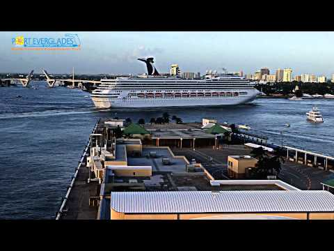 Port Everglades HIGH SPEED TIME LAPSE Parade of Ships ( PM)