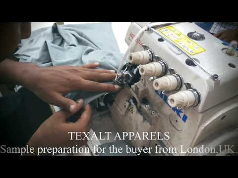 """""""TEXALT APPARELS"""".Shoulder joint sewing. For the buyer from London.UK."""
