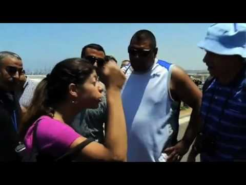 Israeli Protest at Ashdod for Freedom Flotilla Aid for Gaza