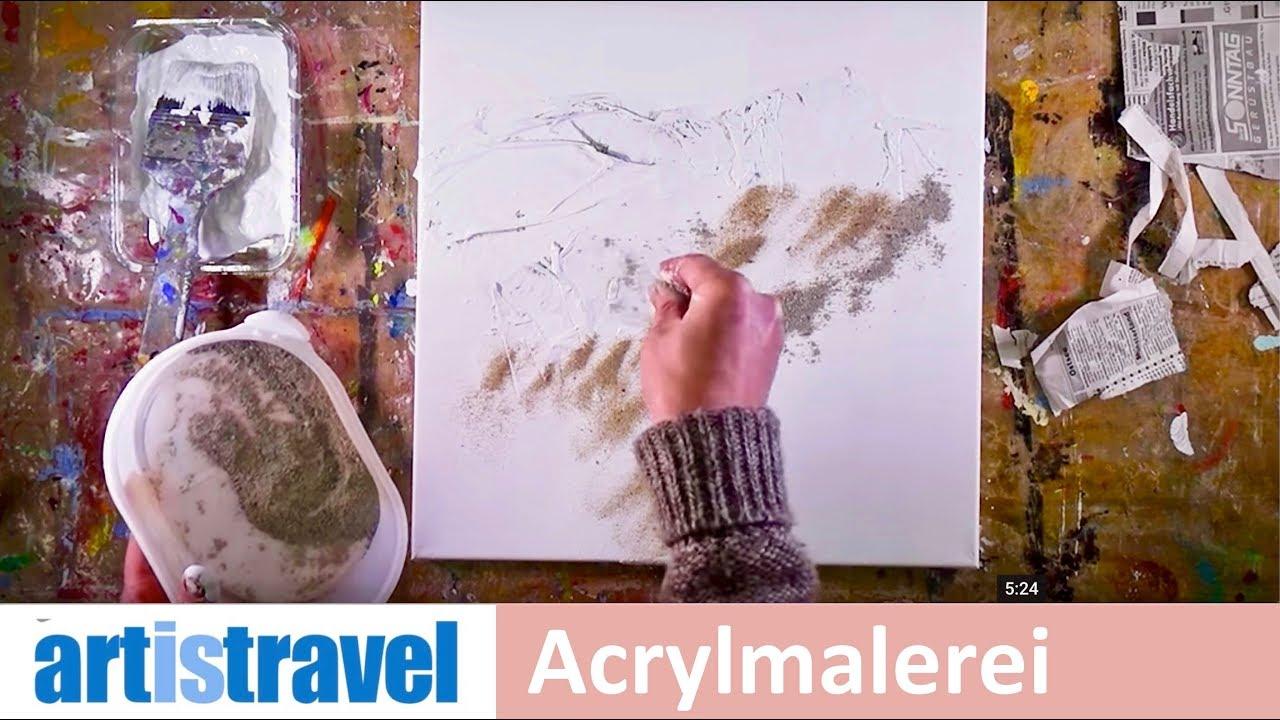 Leinwand Grundieren Für Verschiedene Acrylbilder Ganz Einfach Malen Lernen 2