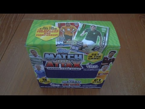 PREMIERE ☆ UNBOXING BOOSTER BOX (36 PACKS) ☆ topps MATCH ATTAX SPFL 2015 Trading Cards