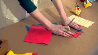 Making Easter chicks from scrap fabric - simple holiday crafts