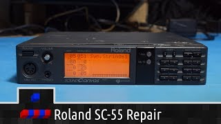 Roland SC-55 Repair: Front Switches