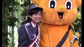「春の全国交通安全運動」を前に、東京・千代田区で女優の上白石萌音さ...