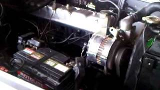 2f engine first idle run after rebuild