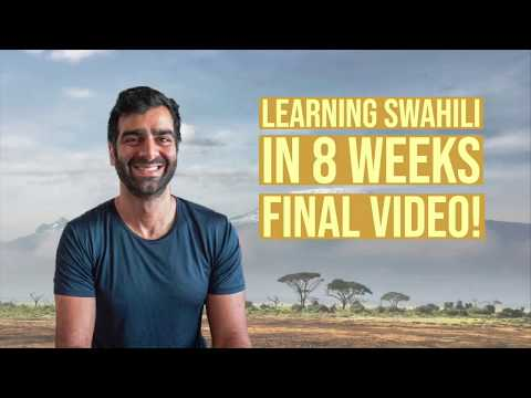 Learning Swahili in Two Months - Video of me speaking with my tutor after learning Swahili quickly