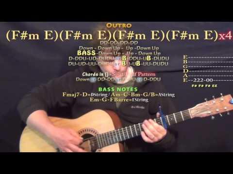 Uber Everywhere (Madeintyo) Guitar Lesson Chord Chart - Capo 4th