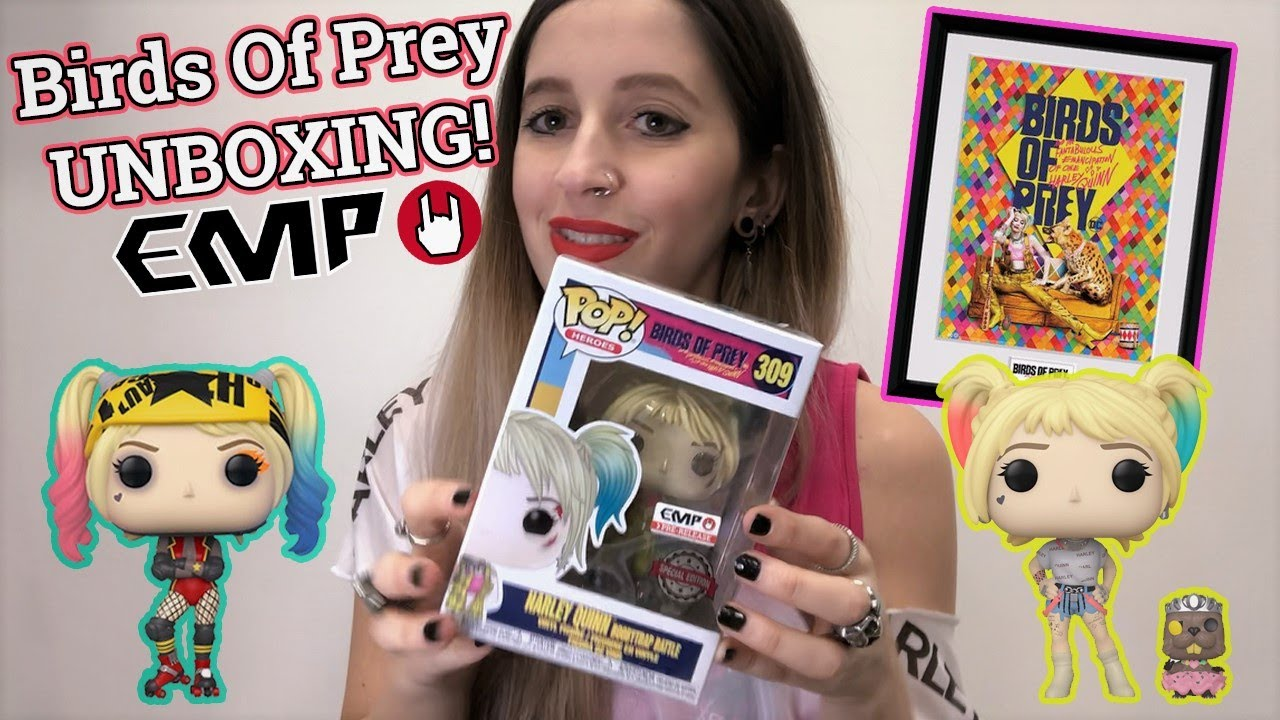 Birds Of Prey Unboxing Harley Quinn Funko Pop S And More Bop Merch Youtube