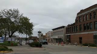 Tornado damage, downtown Marshalltown Iowa, October 2018