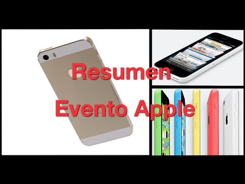 Resumen evento Apple iphone 5S y 5C - Especificaciones y caracteristicas