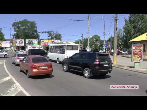 Видео 'Новости-N': Президентский кортеж Порошенко  в Николаеве