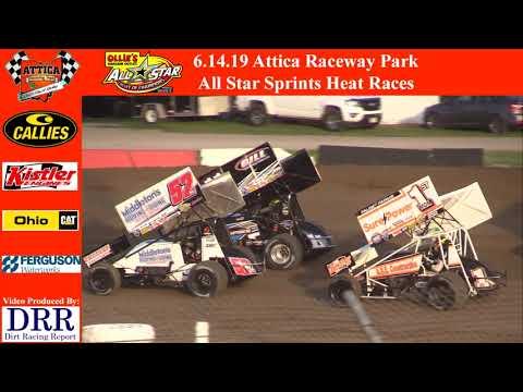 6.14.19 Attica Raceway Park All Star Sprints Heat Races