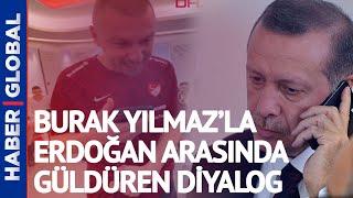 Cumhurbaşkanı Erdoğan Milli Takım Soyunma Odasını Aradı! Burak Yılmaz İle Güldüren Diyalog